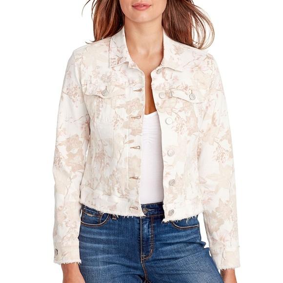 Nine West Floral Sarah Denim Jacket NEW